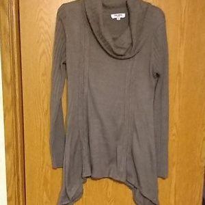 Grey light cowl neck sweater